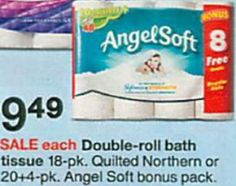 Only $.10 per Angel Soft Bath Tissue regular roll at Target with triple coupon stack! - http://printgreatcoupons.com/2013/12/10/only-10-per-angel-soft-bath-tissue-regular-roll-at-target-with-triple-coupon-stack/