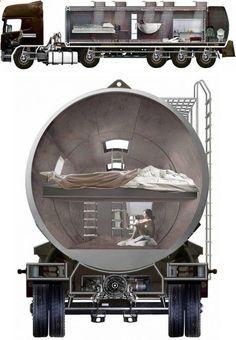 (via Truck Home: Turn Oil Tanker Trucks to Slick Trailer Homes | Designs  Ideas )