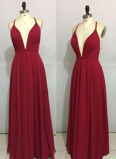 Prom Dress Princess, Simple burgundy chiffon long prom dress, backless evening dress Shop ball gown prom dresses and gowns and become a princess on prom night. prom ball gowns in every size, from juniors to plus size. Modest Prom Gowns, Pageant Dresses For Teens, Elegant Bridesmaid Dresses, Simple Prom Dress, Tulle Prom Dress, Homecoming Dresses, Sexy Dresses, Dresses Uk, Sweater Dresses