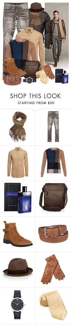 """Enter contest Save Draft Open New       WomenMenHomeMy ItemsCollectionsContest Blue Jeans (male)"" by nefertiti1373 ❤ liked on Polyvore featuring Polo Ralph Lauren, AMIRI, Joseph, Burberry, Ralph Lauren, River Island, Office, Tommy Hilfiger, Borsalino and Emporio Armani"