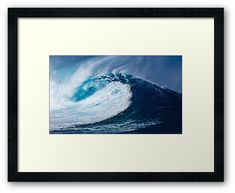 'Breaking Wave surfing surf Beach Waves Water Wave Ocean Coastal' Framed Print by lukedwyerartist Wall Prints, Framed Art Prints, Canvas Prints, Beach Waves, Ocean Waves, Coastal Art, Water Waves, Beach Art, Surfing