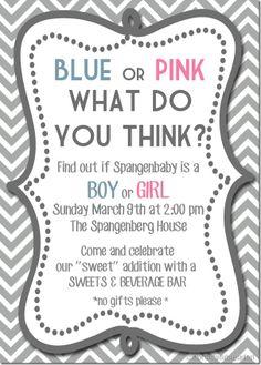 Gender Reveal Invitation Idea!!