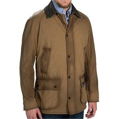 Mens Barbour Washed Ashby Waxed Jacket