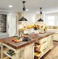 Farmhouse Pendant Light From Landmark Lighting (kitchen design and photo by Insignia Kitchen And Bath)