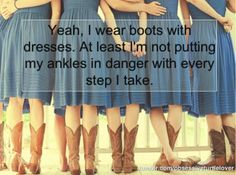 When I hear complaints about my high heels, I calmly introduce them to boots and summer dresses ;)