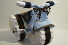 Tricycle Diaper Cake by bearbabycakes on Etsy