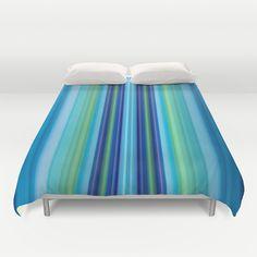 Stripes blue 2 Duvet Cover by Christine baessler - $99.00