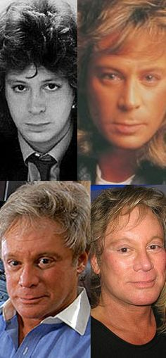 Eric Carmen through the years collage...sometimes I hate cosmetic surgery and the way it morph's a perfectly good face!