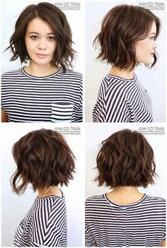 #ShortHair #WavyHair #Hairstyles Anh Co Tran Bob..., click now to see more...