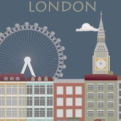 London 2. Berlin. Poster. Wandbild.