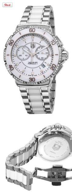 TAG Heuer Women's CAH1213.BA0863 Formula One White Diamond Chronograph Watch, , #Watches, #Wrist Watches