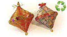 Resultado de imagen de adornos navideños con pasta de sopa