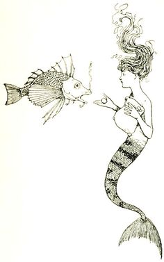 """""""But a mermaid has no tears, and therefore she suffers so much more.""""– Hans Christian Andersen."""