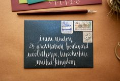 Inkblot Calligraphy: http://www.etsy.com/listing/106189681/calligraphy-envelope-addressing-navy?ref=shop_home_active
