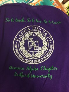 I am a member of the Gamma Alpha Chapter of Kappa Delta Pi, which is an Education Honor Society!
