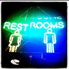 Dealer's Choice - Neon, sign, restrooms