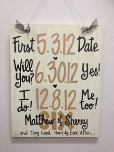 Great idea for Valentine's Day gift! Custom HandPainted  Wedding Anniversary by WhatchawantDesign