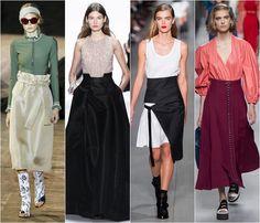 High waistline skirts spring-summer 2016