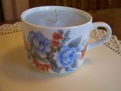 Blue Rose Soy Candle Unscented by CandlesByDPar on Etsy, $12.00