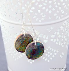 Constellation Earrings - using Chalk to colour Polymer clay - a free mini tutorial from Caprilicious Jewellery
