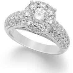 Prestige Unity Diamond Ring, 14k White Gold Diamond Prestige Unity Engagement Ring (2 Ct. T.W.) found on Polyvore