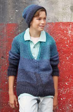 Lana Grossa JACKE Ascot - FILATI Teens No. 7 - Modell 17   FILATI.cc WebShop