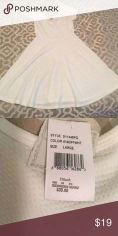 Solid white cap sleeve skater dress Super cute solid white cap sleeve skater dress! Dress it up or go casual with the perfect accessories Soprano Dresses Mini