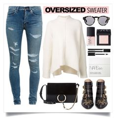 """""""60-Second Style: Oversized Sweater"""" by alaria ❤ liked on Polyvore featuring URBAN ZEN, Yves Saint Laurent, Chloé, Illesteva, NARS Cosmetics, Givenchy, oversizedsweater and sixtysecondstyle"""