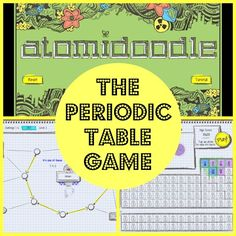 Atomidoodle is a periodic table game app from Hero Factor Games that is available for iPads and Android tablets. It combines the looks and feel of a chemistry notebook, a fast-paced video game, and the elements of the periodic table to create a fun learning experience.