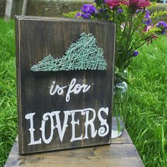 Check out this item in my Etsy shop https://www.etsy.com/listing/236723921/virginia-is-for-lovers-woodstring-art