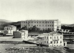 TRAVEL'IN GREECE   The building that is housing the Parliament, 1880, #Athens, #Greece, #travelingreece