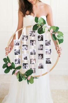 Photography: Ruth Eileen Photography - http://www.stylemepretty.com/portfolio/ruth-eileen-photography Read More on SMP: http://www.stylemepretty.com/2015/04/23/diy-floral-photo-hoop/