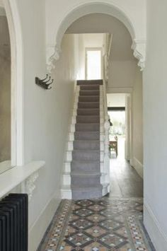 open dining room into edwardian terrace hallway - Google Search