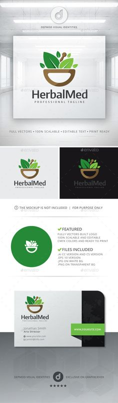 Herbal Med - Logo Design Template Vector #logotype Download it here: http://graphicriver.net/item/herbal-med-logo/11379746?s_rank=294?ref=nexion