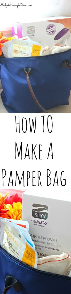 How To Make A Pamper Bag - I love this craft especially since everything in the bag can be reused! Instead of tissue paper a throw pillow was used! Genius! #giftsilkn #ad