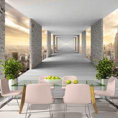 Fototapeta 3D z podniebnym korytarzem do Salonu, Sypialni lub Kuchni
