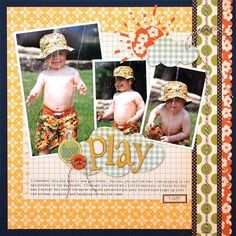 """Play"" scrapbook page"
