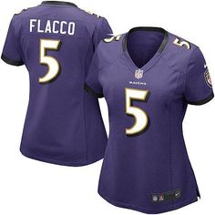 NFL Women\s Game Nike Nike Baltimore Ravens http://#5 Joe Flacco Team Color Jersey $69.99