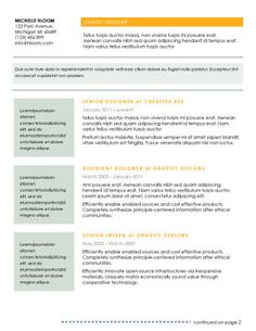traditional 2 resume template