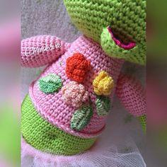 #амигуруми #amigurumi #weamiguru #вязаниеИгрушек #вязание #лягушка by chinkova_toys