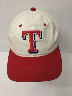 Vintage Texas Rangers Snapback Hat Cap Script Adjustable Genuine MLB   Signatures  BaseballCap 48e83dbca2f3