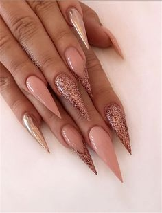 Stiletto Nail Designs 2020 Idea best acrylic stiletto nails designs trend in fall nail art Stiletto Nail Designs Here is Stiletto Nail Designs 2020 Idea for you. Stiletto Nail Designs 2020 acrylic nail designs for christmas and the new. Glam Nails, Fancy Nails, My Nails, Beauty Nails, Long Nails, Fall Nail Designs, Acrylic Nail Designs, Gorgeous Nails, Pretty Nails