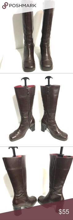 "Tommy Hilfiger Classic Square Toe Boots Size 8M Tommy Hilfiger Classic Square Toe Boots Size 8M Shaft ht. 13"" Heel ht. 3"" Leather Upper Tommy Hilfiger Shoes Heeled Boots"
