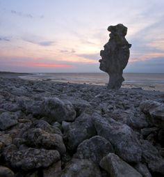 sea stack on langhammars, #Sweden on the island Faro, Gotland Photography Marita #Toftgard