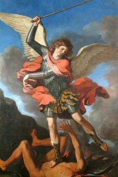 Archangel Michael, Church of St. Nicolò - canvas painted by Il Guercino - Fabriano (Marche - Italy)