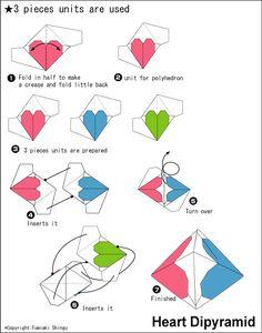 Origami Heart Dipyramid instruction