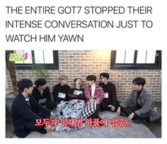 Lmao or let's just say that JB stopped their intense convo just to yawn