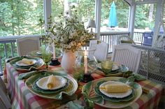Beautiful summer tablescape.