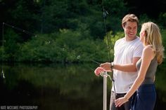 I have the same reel that he has on his pole!!! awesome :P  but cute pics too