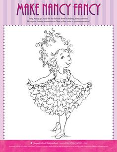 a colorful creation printable coloring sheet fancy nancy printable activities fancynancyworldcom coloring pages pinterest printable coloring